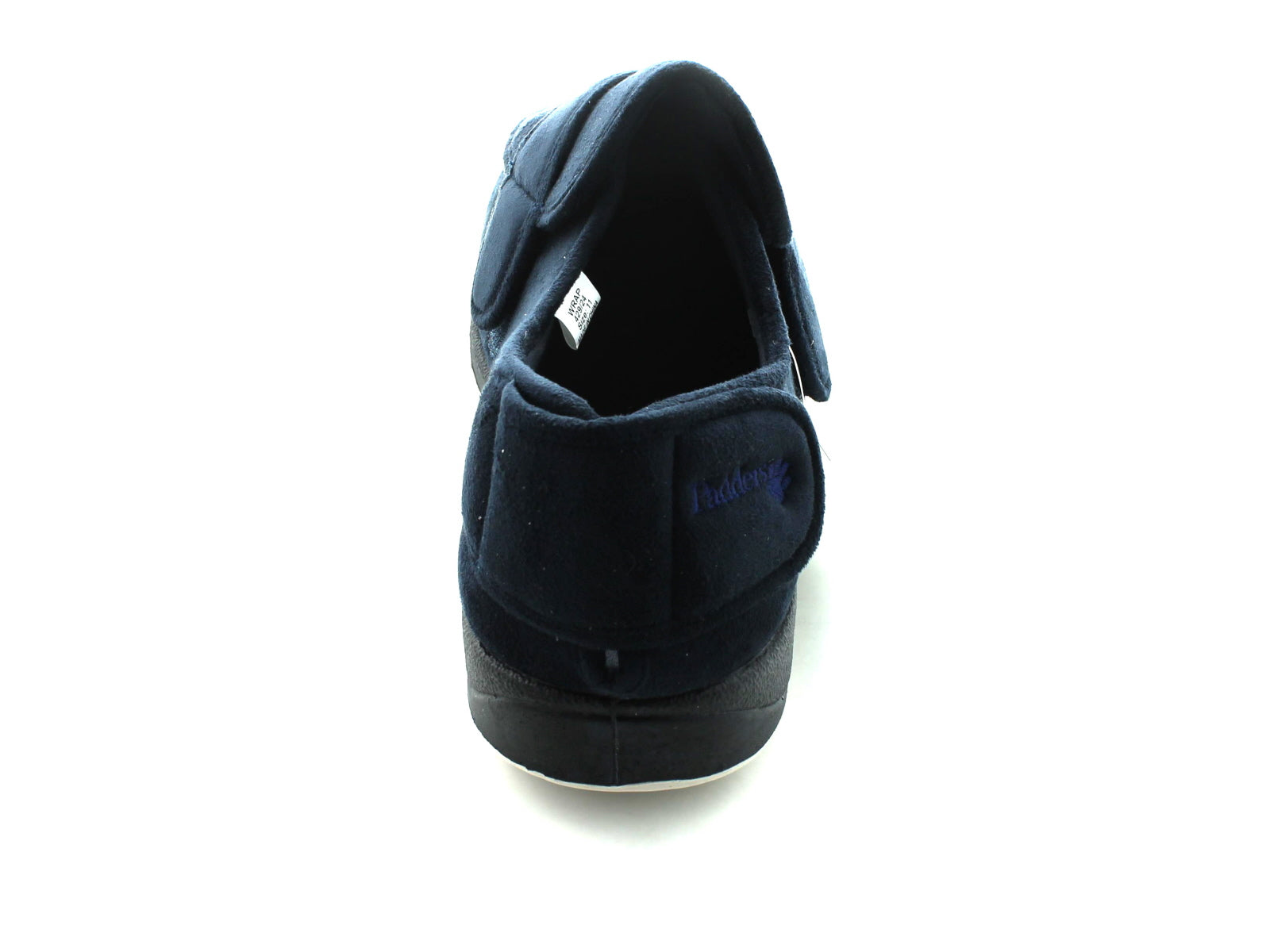 Padders Wrap in Navy Suede back view