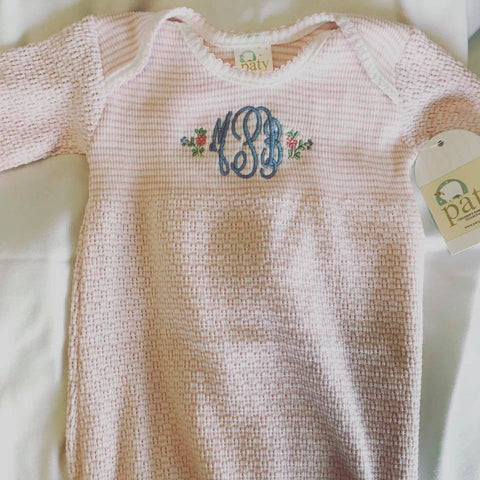 MONOGRAMMED BABY GIFT