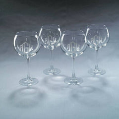 Monogrammed Balloon Wine Glasses