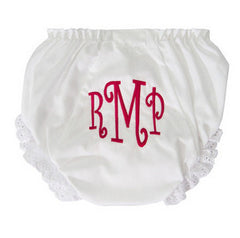 Embroidered Monogrammed Bloomers