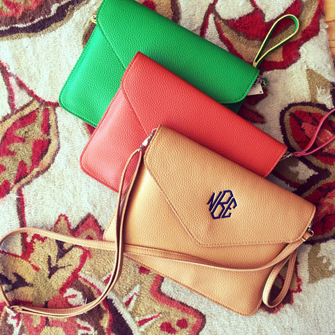 Monogrammed Purse Leather Crossbody