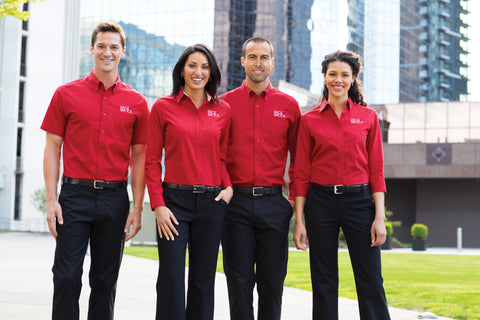 company polos embroidered
