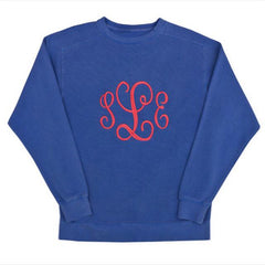 monogrammed comfort colors sweatshirt dallas tx