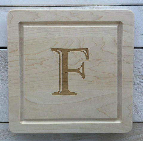 "12"" Engraved Square Cutting Board"