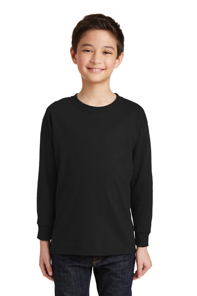 Gildan® Youth Heavy Cotton 100% Cotton Long Sleeve T-Shirt. 5400B""