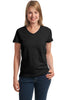 Hanes® Ladies ComfortSoft® V-Neck T-Shirt. 5780