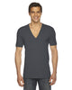 American Apparel Unisex Sheer Jersey Short-Sleeve Deep V-Neck