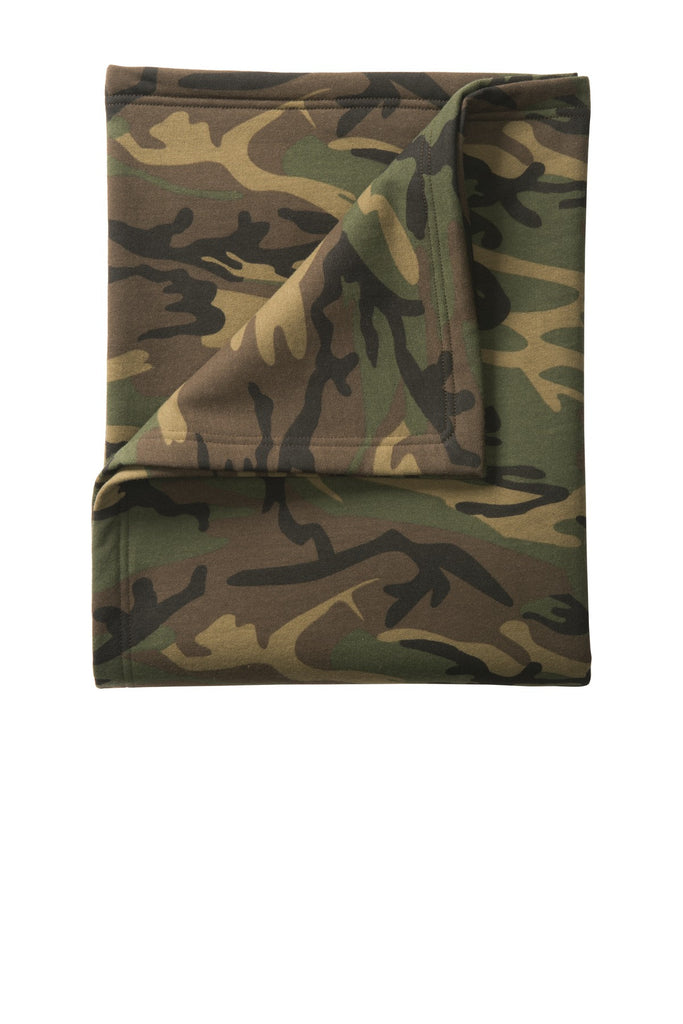 Port & Company® Camo Sweatshirt Blanket. BP78C