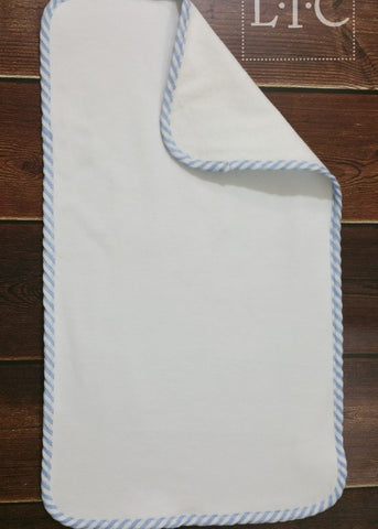 Seersucker Trimmed Burp Cloth