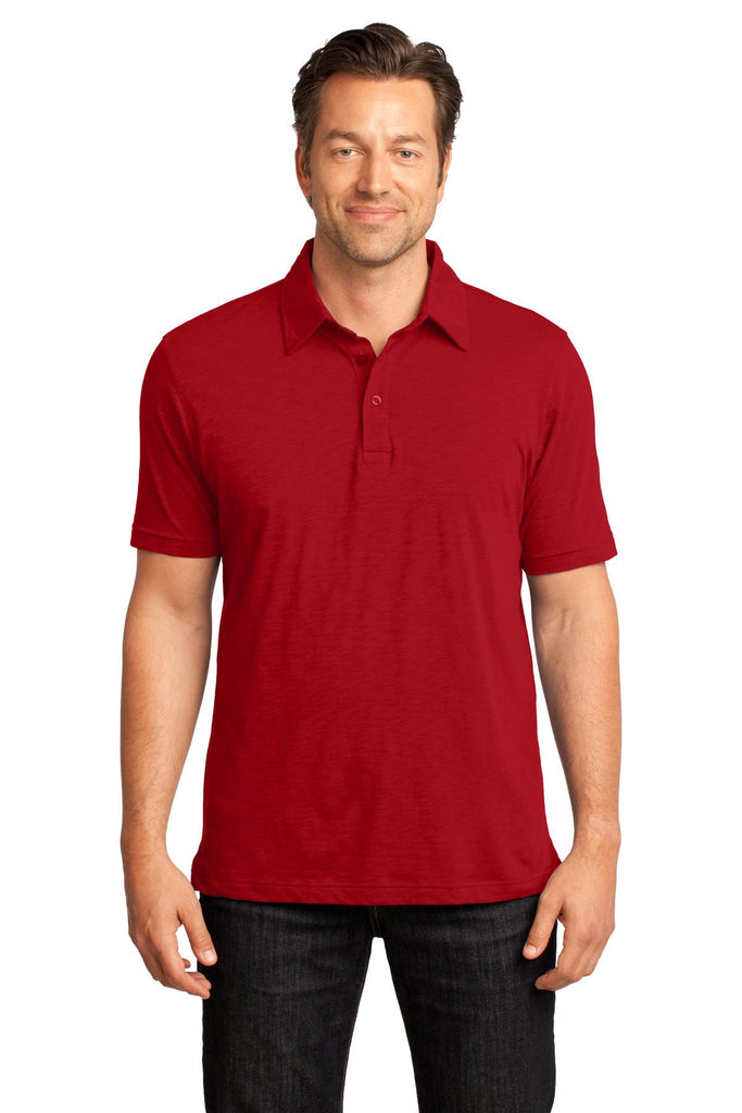 District Made® - Mens Slub Polo. DM350