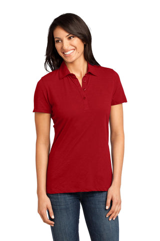 District Made® - Ladies Slub Polo. DM450