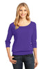 District Made® - Ladies Modal Blend 3/4-Sleeve Raglan DM482