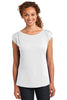 District Made® Ladies Modal Blend Gathered Shoulder Tee. DM483