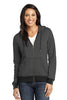 District Made® - Ladies Mini Stripe Full-Zip Hoodie DM490