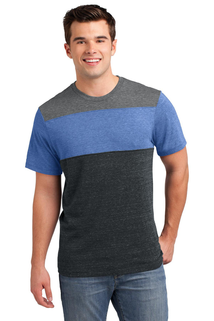 District® Young Mens Tri-Blend Pieced Crewneck Tee. DT143