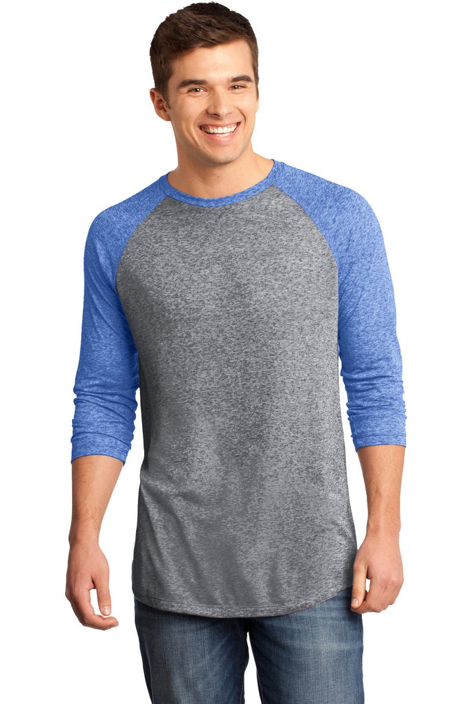 District® - Young Mens Microburn® 3/4-Sleeve Raglan Tee. DT162