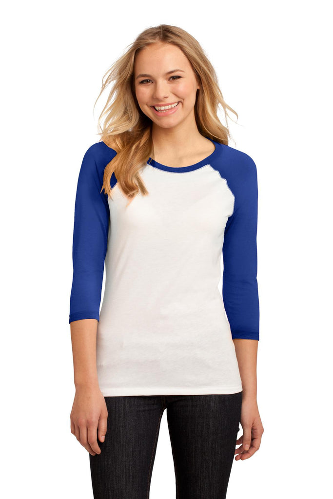 District® - Juniors 50/50 3/4-Sleeve Raglan Tee. DT228