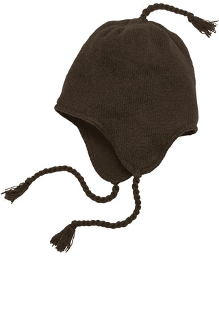 District® - Knit Hat with Ear Flaps.  DT604