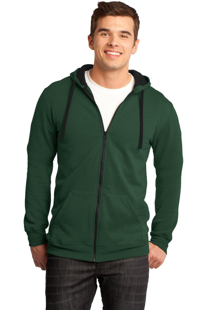 District® - Young Mens The Concert Fleece Full-Zip Hoodie. DT800""