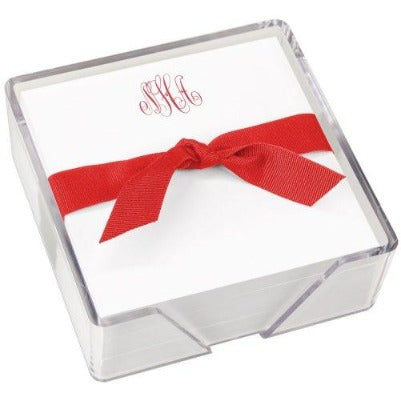 Monogrammed Notepad with Acrylic Holder