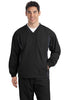 Sport-Tek® Tipped V-Neck Raglan Wind Shirt. JST62