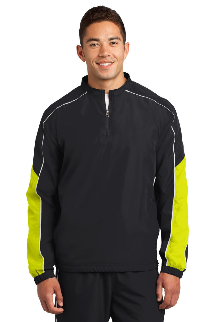 Sport-Tek® Piped Colorblock 1/4-Zip Wind Shirt. JST64