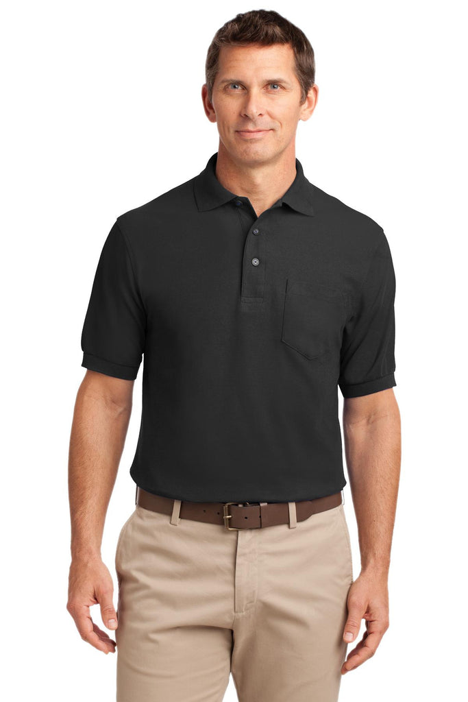 Port Authority® Silk Touch Polo with Pocket.  K500P""