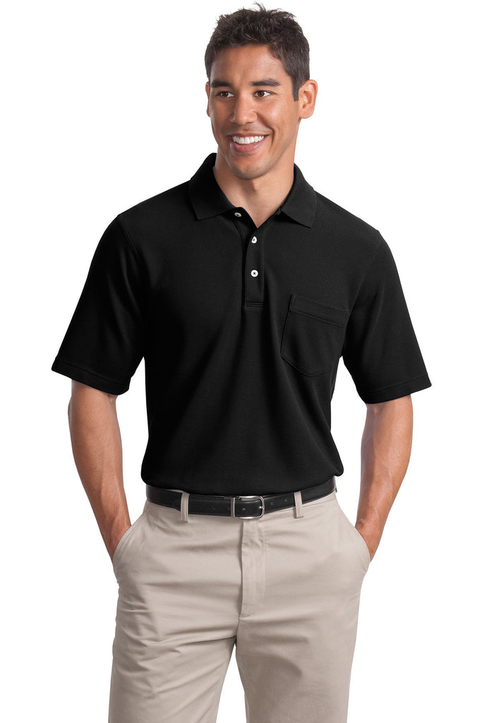 Port Authority® EZCotton Pique Pocket Polo. K800P""