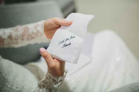Personalized Hemstitch Handkerchief