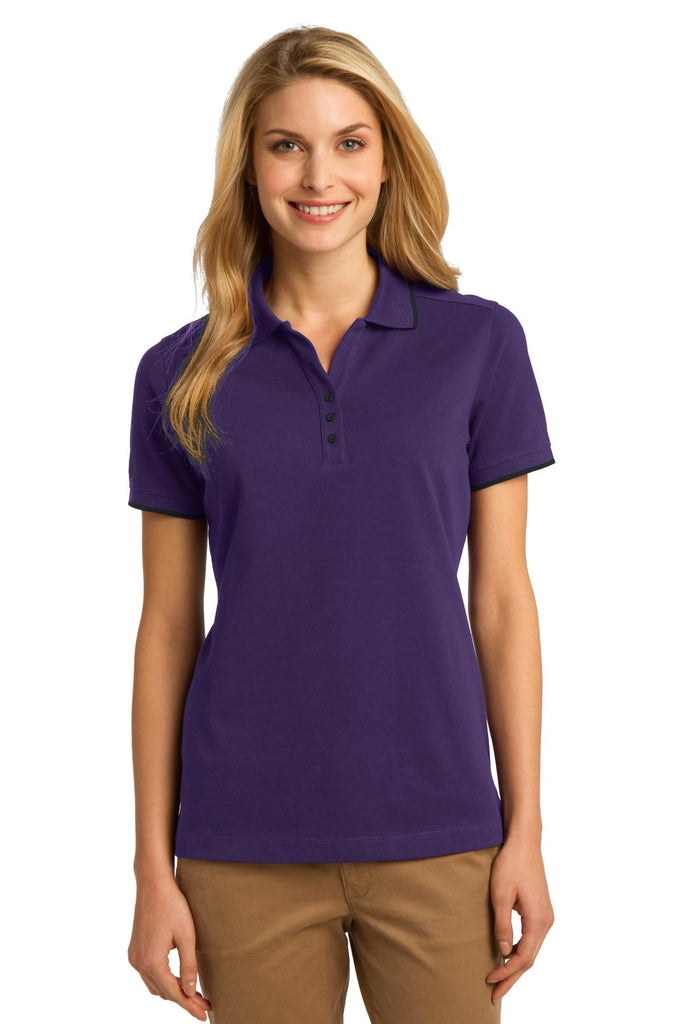 Port Authority® Ladies Rapid Dry Tipped Polo. L454""