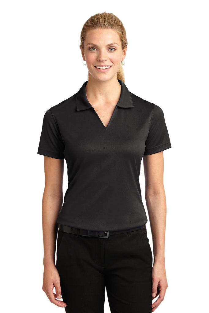 Sport-Tek® Ladies Dri-Mesh® V-Neck Polo.  L469