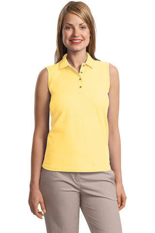 Port Authority® Ladies Silk Touch Sleeveless Polo.  L500SVLS""