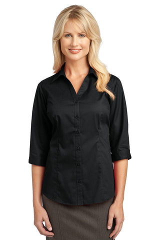 57ca79ba District Made® - Ladies Long Sleeve Washed Woven Shirt. DM4800. from $27.98  · IMPROVED Port Authority® Ladies 3/4-Sleeve Blouse. L6290