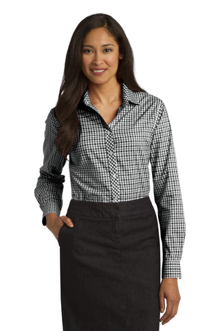 Port Authority® Ladies Long Sleeve Gingham Easy Care Shirt. L654