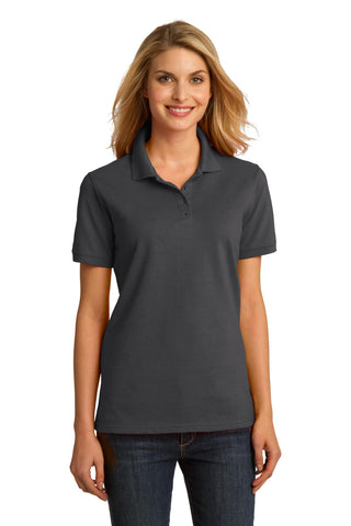 Port & Company® Ladies Ring Spun Pique Polo. LKP150