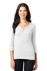 Port Authority® Ladies Concept Stretch 3/4-Sleeve Scoop Henley. LM1007