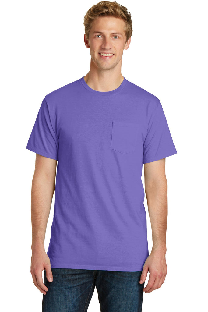 Port & Company® Essential Pigment-Dyed Pocket Tee.  PC099P