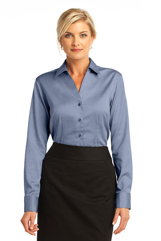 Red House® - Ladies French Cuff Non-Iron Pinpoint Oxford. RH63