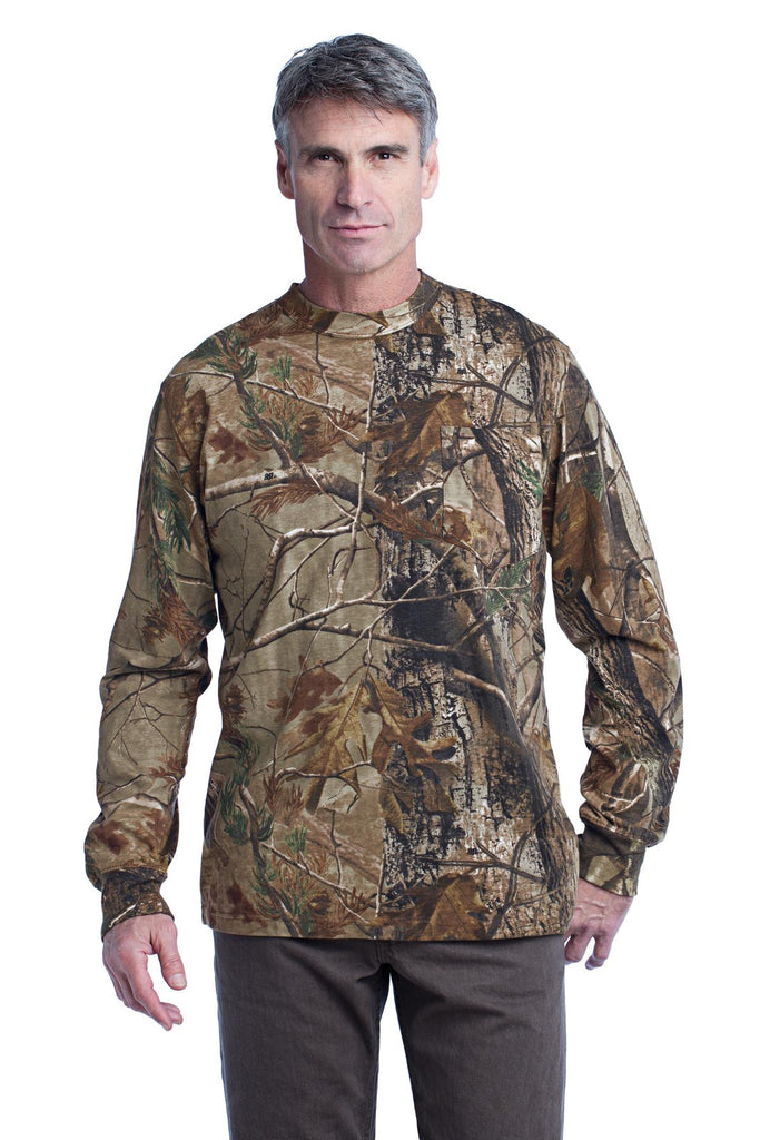 Russell Outdoors™ Realtree® Long Sleeve Explorer 100% Cotton T-Shirt with Pocket. S020R