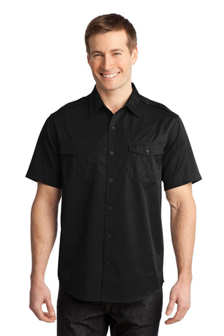 Port Authority® Stain-Resistant Short Sleeve Twill Shirt. S648
