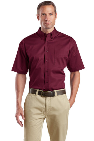 CornerStone® - Short Sleeve SuperPro Twill Shirt. SP18""