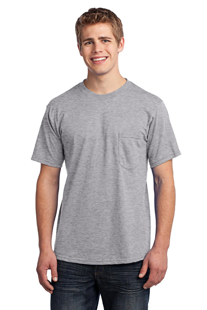 Navy/_XL Port /& Company All-American Tee with Pocket USA100P