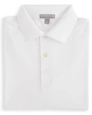 Peter Millar Solid Stretch Jersey Polo With Knit Collar