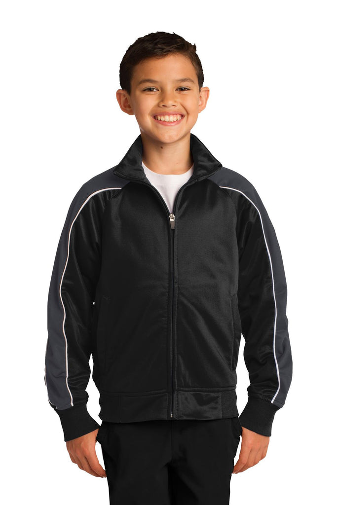 Sport-Tek® Youth Piped Tricot Track Jacket. YST92
