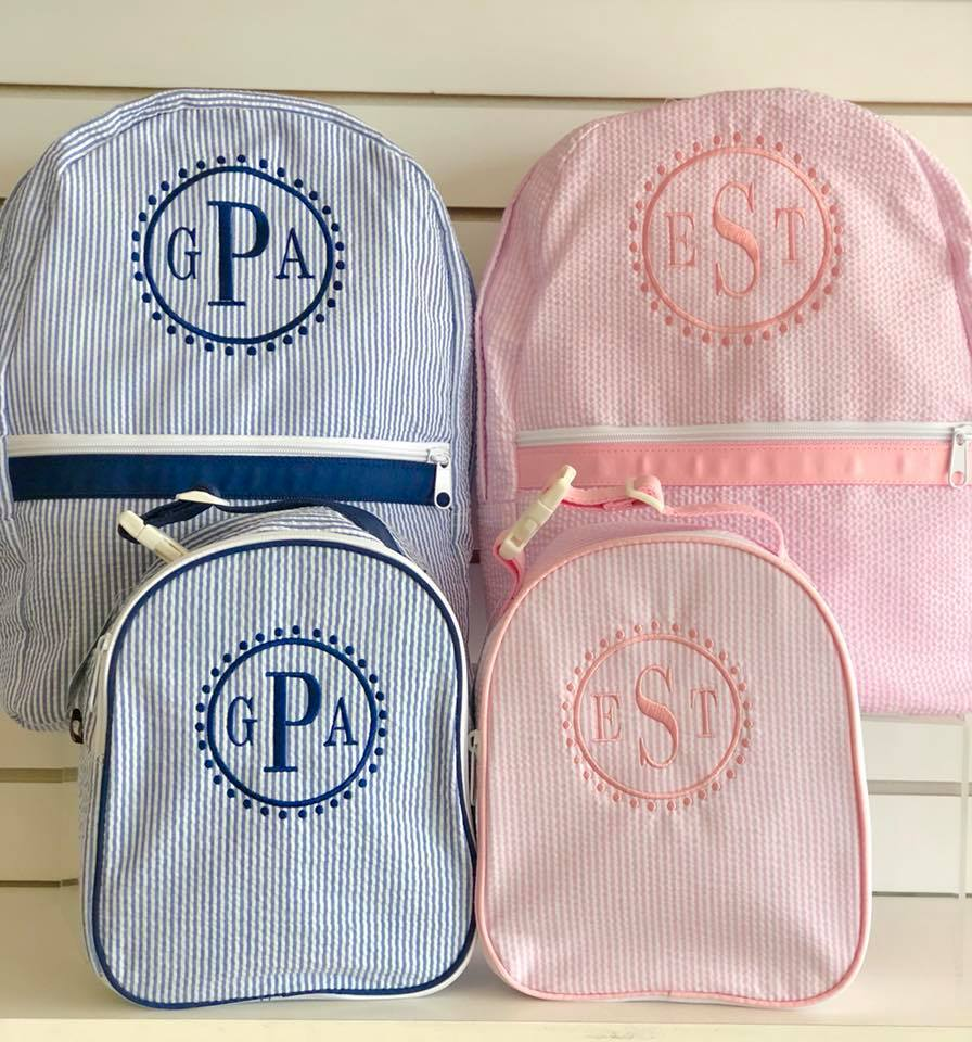 Custom Monogrammed Backpacks