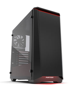 Phanteks Eclipse P400S Tempered glass Black with Red