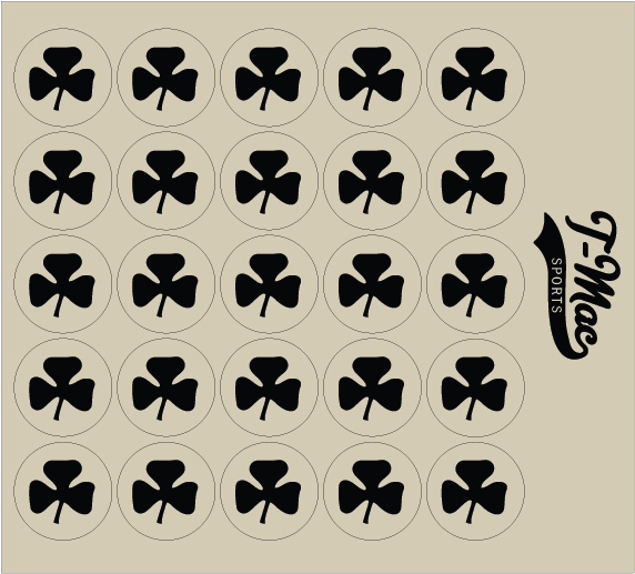 Clover Award Decals, Mini Award Decals - T-Mac Sports