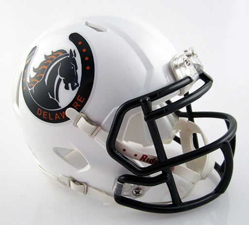 Delaware Hayes, Mini Football Helmet - T-Mac Sports