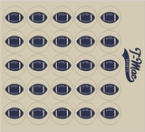 Football Award Decals, Mini Award Decals - T-Mac Sports