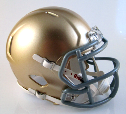 Notre Dame (Portsmouth), Mini Football Helmet - T-Mac Sports